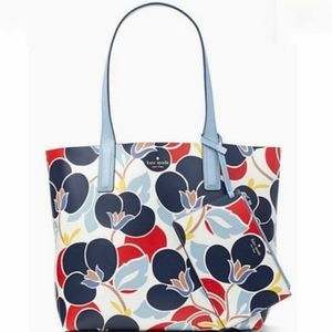 Kate Spade New York Leather Mya Breezy Floral Tote